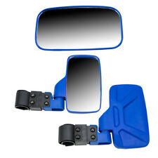 Blue Break Away Side & Rear Wide View Mirror UTV Offroad 1.75 Inch Roll Cage