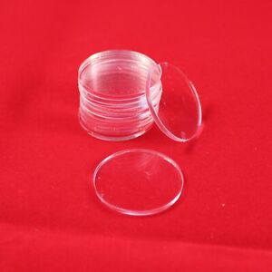 ROUND (CIRCLE) 20mm TRANSPARENT / CLEAR ACRYLIC BASES for Roleplay Miniatures