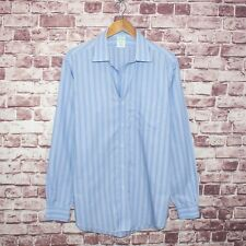 Brooks Brothers Milano fit Button Front Dress Shirt Blue Striped Sz 16 1/2 - 35