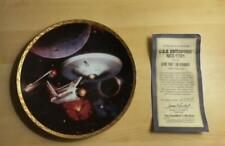 "STAR TREK  COMMEMORATIVE  PLATE VOYAGERS ""U.S.S. ENTERPRISE NCC-1701"" w/COA"