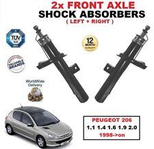 AVANT GAUCHE + DROIT Amortisseurs pour Peugeot 206 1.1 1.4 1.6 1.9 2.0 1998- >