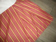 "Ralph Lauren Edmonton Red Clay Gold Stripe (1) King Bedskirt 18"" Split"
