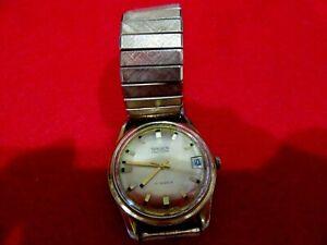 Vtg Gruen Precision 17 Swiss Jewels Autowind Wind-up Analog Men's Watch L1.21