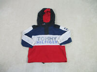 VINTAGE Tommy Hilfiger Jacket Youth Small Blue Red Spell Out Sailing Kids 90s *