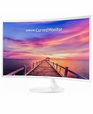Samsung 27in White Super-Slim Curved 1080p LED Monitor, 1920 x 1080 Resolution