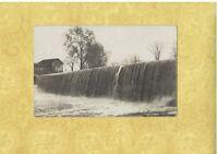 NY Seneca Castle area 1909 rare RPPC real photo postcard DAM & HOUSE to Geneva