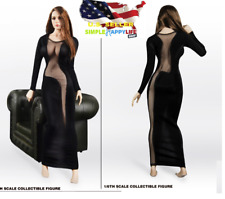 "1/6 sexy See Thru evening dress for 12"" female figure phicen hot toys ❶USA❶"