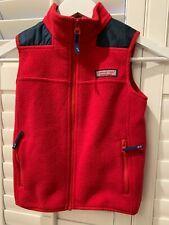 Vineyard Vines Boy's Red Zip Vest 6