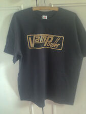Vintage Vampower amp amplifier T shirt classic gold on black logo
