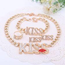 Fashion Choker Pendants Necklace For Women Cute Red Kiss Lips Jewelry Sets