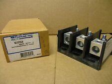 Ferraz Shawmut 67253, Distribution Block 3P 600V (1)350Mcm X (1) 3/8 Stud New- B