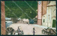 Vicenza Recoaro Cavalli TRACCIA UMIDO cartolina QT2561