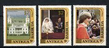 Antigua 1982/4 SG#844-6, 21st Birthday Princess Diana MNH Gold Surch #A66372