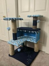 "Brand New Handcrafted Cat Tower, ""Under the Sea"" Theme."