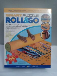 """Smart Puzzle Roll & Go Storage Non Slip Mat System 30"""" x 50"""" Up to 2000 Pieces"""
