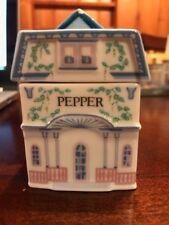 The Lenox Spice Village Victorian House Spice Jar Fine Porcelain PEPPER - NICE!