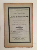 Rivista Mensile Di Scuola Antropologia Di Parigi 15 Ottobre 1898