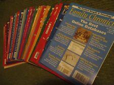 Original 1999 - 2005 Lot of 27 FAMILY CHRONICLE Magazines Genealogy 345A6