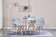 Lot de 4 Chaises avec pieds en bois,  Chaise Scandinave de Salle à manger Gris