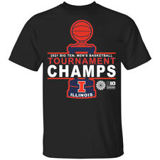 Illinois Fighting Illini 2021 Big Ten Men's Basketball Tournament T-Shirt S-5XL