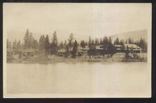 REAL PHOTO Postcard JASPER Alberta/CANADA  Lodge view w/Statistics 1920's?