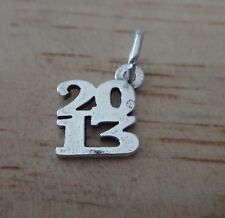 Sterling Silver 13x11mm College School Graduation Birth Year for 2013 Charm