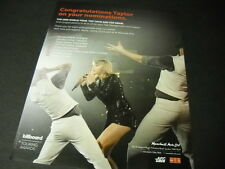 TAYLOR SWIFT June 19-30, 2015 TOUR DATES Promo Poster Ad mint condition