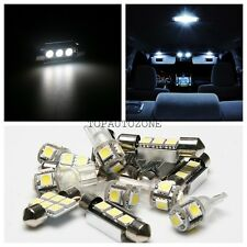 10x Xenon White Led Light Bulbs Interior Package Kit For 2008-2013 Buick Enclave