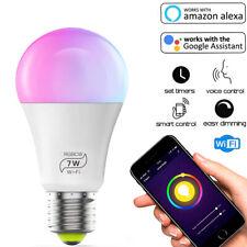 Ampoule Connectée LED RGB WiFi Intelligente Compatible pour Alexa Google Home