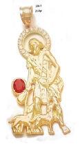 10k Yellow Gold Religious Catholic St. Lazarus San Lazaro Humble Charm Pendant