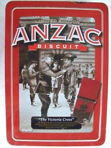 """ANZAC TIN """"THE VICTORIA CROSS"""" 2013. EMPTY NO LETTER."""