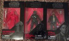 "Star Wars Black Series 6"" Lot of 3 Praetorian Guard Poe Dameron FO Tie Fighter"