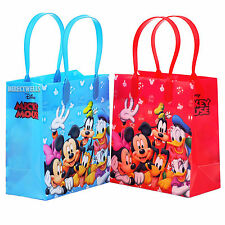 Mickey Mouse and Friends Licensed Reusable Small Party Favor Goodie 12 Bags