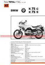BMW K75 C et K 75 S 1986 Fiche Technique Moto 000350