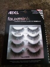 Ardell Fauxmink Eye Lashes 4 Pairs 812 luxuriously lightweight invisiband