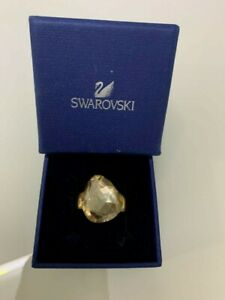 Swarovski Ring 14k Rose Gold Plated Made By Swarovki Crystal Cut size 09