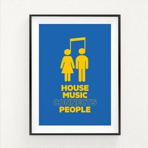 House Music Print Wall Art Picture Decor Poster Print A3 Size