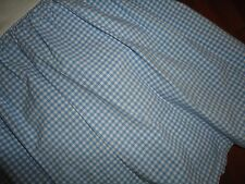 "Pottery Barn Kids Ruffle Medium Blue Gingham Check Twin Bedskirt 13"" Drop Split"