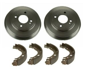 NEW Brembo Rear Drums and Shoes Brake Kit for Honda Fit Sport Base 2009-2013