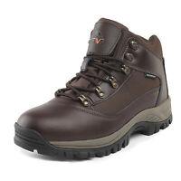 US Men's Waterproof Construction Hiking Boots Mid Outdoor Trekking Trails Shoes