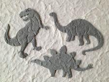 15 Dinosaurs Tyrannosaurus Stegosaurus Brontosaurus Scrapbook Cards T Rex diecut