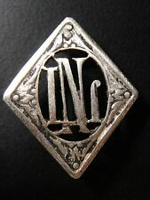 MONOGRAMMES ARGENT MASSIF LN NL INITIALE CHIFFRE SOLID SILVER MONOGRAMS ART DECO