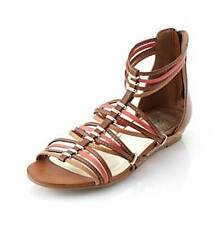 Relativity Runway Strapy Brown Coral Beige Multi Flat Sandal Neutral 6.5 New Box