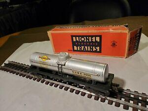 Lionel Post War O Gauge # 2555 Tanker All Metal Var B In Exc  Org Box 1946/48