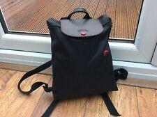 Ladies mens black longchamp rucksack