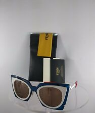 bbe4ed7a268 Brand New Authentic Fendi FF 0117 S Sunglasses IBZ3J Black Clear Frame 49mm