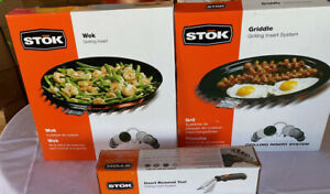 Stok Grilling Inserts. Griddle, Wok and Insert Removal Handle