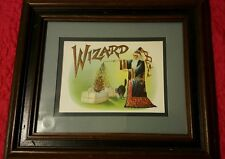 WIZARD Cigar Box Label LARGE Lithograph already framed.