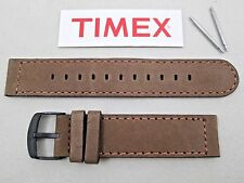 Timex Expedition brown genuine suede leather watch band stitched 20mm lug