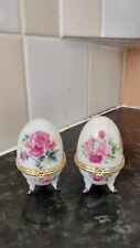 pair of faberge like eggs